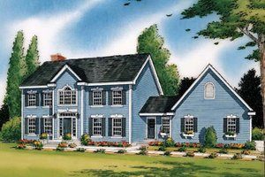 Colonial Exterior - Front Elevation Plan #312-814