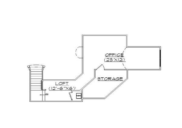 Traditional Floor Plan - Upper Floor Plan Plan #5-458