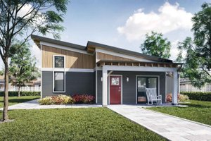 Contemporary Exterior - Front Elevation Plan #924-12