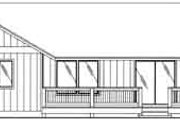 Ranch Style House Plan - 3 Beds 2 Baths 1350 Sq/Ft Plan #117-363 Exterior - Rear Elevation