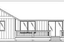 House Plan Design - Ranch Exterior - Rear Elevation Plan #117-363