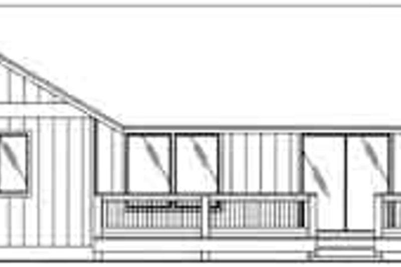 Ranch Exterior - Rear Elevation Plan #117-363 - Houseplans.com