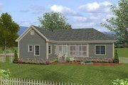 Traditional Style House Plan - 4 Beds 3 Baths 1800 Sq/Ft Plan #56-558 Exterior - Rear Elevation