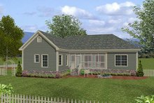 House Plan Design - Traditional Exterior - Rear Elevation Plan #56-558
