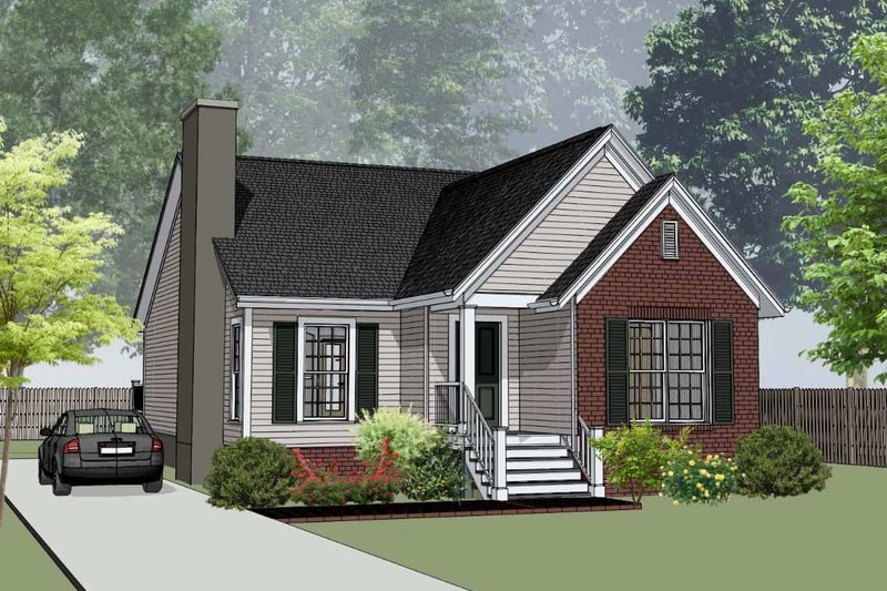 Dream House Plan - Southern Exterior - Front Elevation Plan #79-161