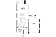 Contemporary Floor Plan - Main Floor Plan Plan #48-692