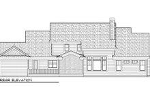 Home Plan - Bungalow Exterior - Rear Elevation Plan #70-996