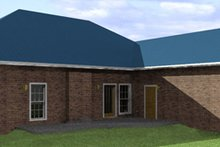 Southern Exterior - Rear Elevation Plan #44-120