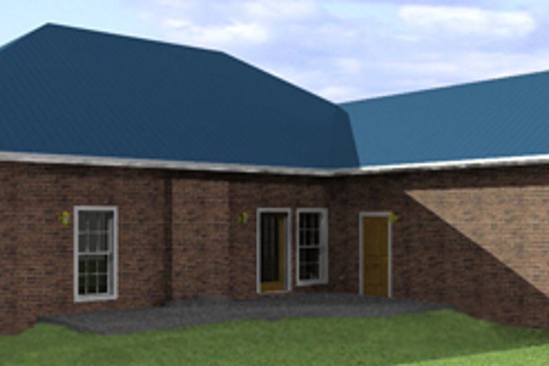Southern Exterior - Rear Elevation Plan #44-120 - Houseplans.com