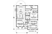 Craftsman Floor Plan - Main Floor Plan Plan #56-704