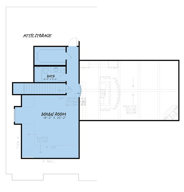 Craftsman Floor Plan - Upper Floor Plan Plan #923-148