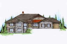 Home Plan - Traditional Exterior - Front Elevation Plan #5-303