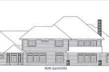 House Plan Design - Country Exterior - Rear Elevation Plan #117-892
