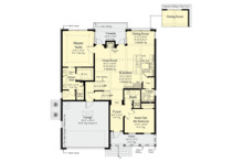 Traditional Floor Plan - Main Floor Plan Plan #930-497