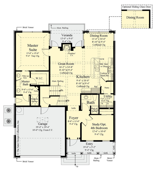 Traditional Floor Plan - Main Floor Plan Plan #930-497