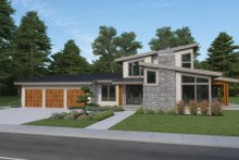 House Plan Design - Contemporary Exterior - Front Elevation Plan #1070-115