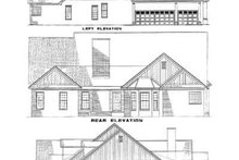 Home Plan - Traditional Exterior - Rear Elevation Plan #17-2130