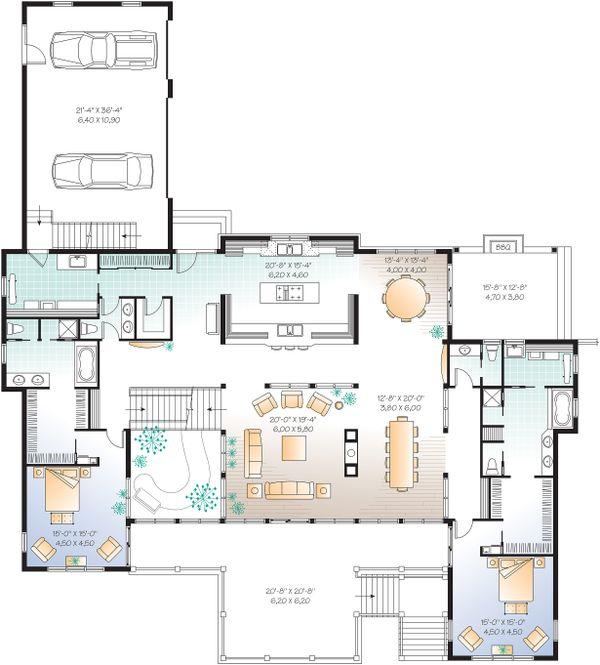 Dream House Plan - Main Level - 9000 square foot Beach home
