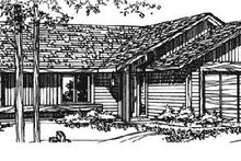 Ranch Exterior - Front Elevation Plan #320-319