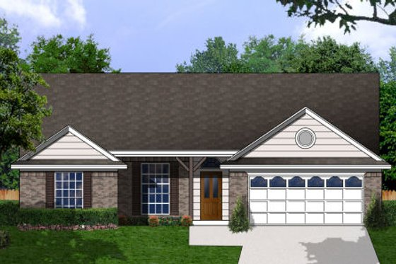 Country Exterior - Front Elevation Plan #62-148