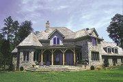 European Style House Plan - 3 Beds 4.5 Baths 3660 Sq/Ft Plan #453-42 Exterior - Rear Elevation
