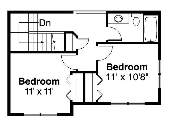 Country Floor Plan - Upper Floor Plan Plan #124-882