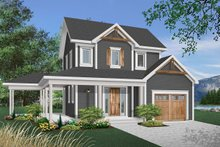 Country Exterior - Front Elevation Plan #23-2164