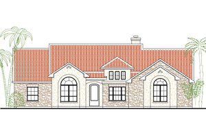 Mediterranean Exterior - Front Elevation Plan #80-146