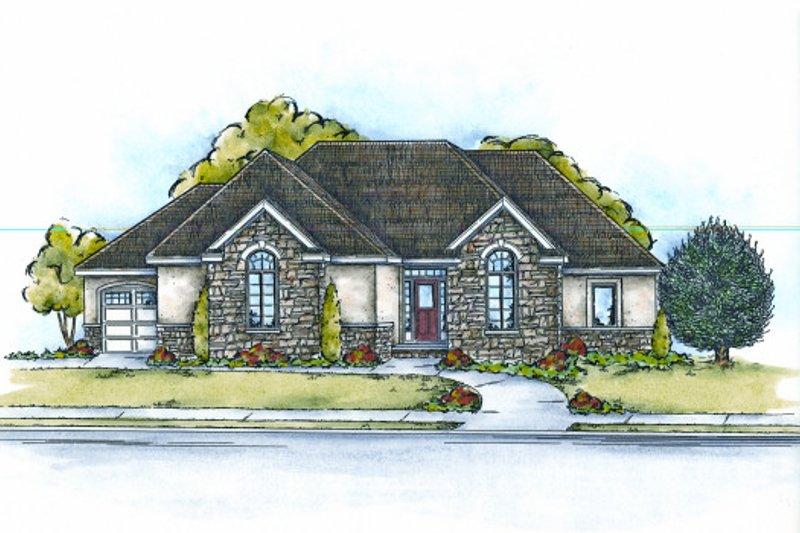 Dream House Plan - European Exterior - Front Elevation Plan #20-2061