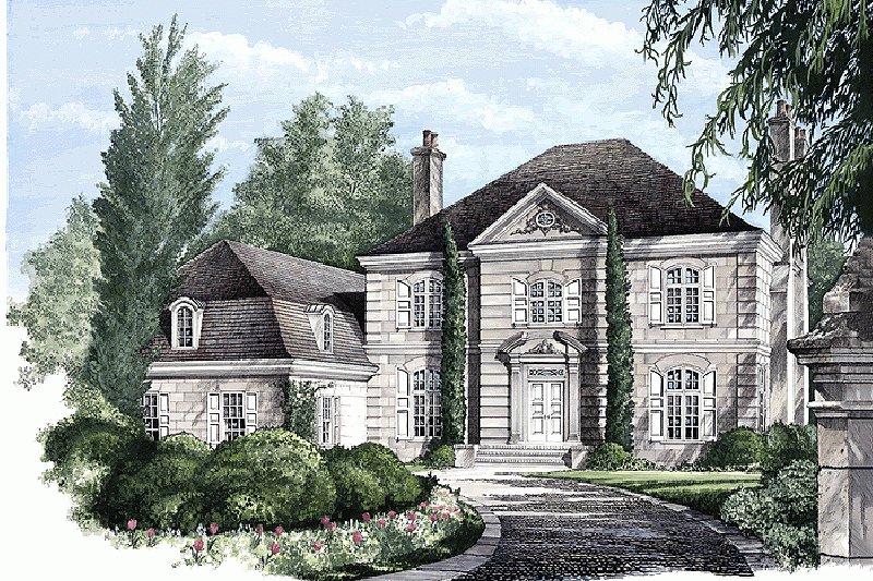 House Plan Design - European Exterior - Front Elevation Plan #137-173