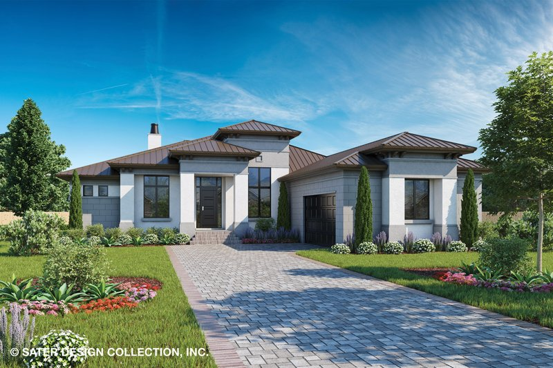 Contemporary Style House Plan - 3 Beds 2.5 Baths 2250 Sq/Ft Plan #930-502