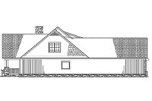 Architectural House Design - Left Side Elevation  BW
