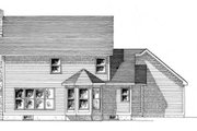 Country Style House Plan - 4 Beds 2.5 Baths 1992 Sq/Ft Plan #316-110 Exterior - Rear Elevation