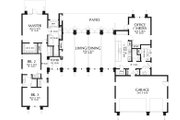 Ranch Style House Plan - 3 Beds 2.5 Baths 2557 Sq/Ft Plan #48-933 Floor Plan - Main Floor Plan