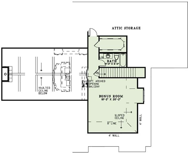 European Floor Plan - Other Floor Plan Plan #17-2560