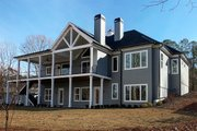 Craftsman Style House Plan - 3 Beds 3.5 Baths 3526 Sq/Ft Plan #437-95 Exterior - Rear Elevation