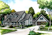Farmhouse Style House Plan - 4 Beds 3.5 Baths 3519 Sq/Ft Plan #140-119 Exterior - Front Elevation