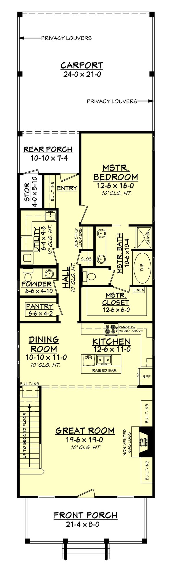 Cottage Floor Plan - Main Floor Plan #430-115