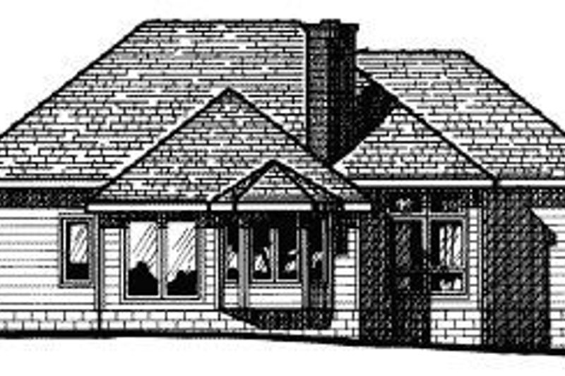 Traditional Exterior - Rear Elevation Plan #20-615 - Houseplans.com