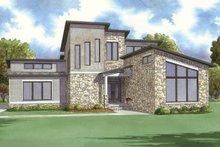 House Plan Design - Contemporary Exterior - Front Elevation Plan #923-52