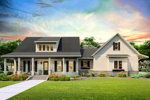 Farmhouse Exterior - Front Elevation Plan #406-9653