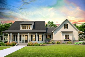Architectural House Design - Farmhouse Exterior - Front Elevation Plan #406-9653