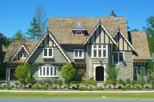 Tudor Exterior - Front Elevation Plan #413-124