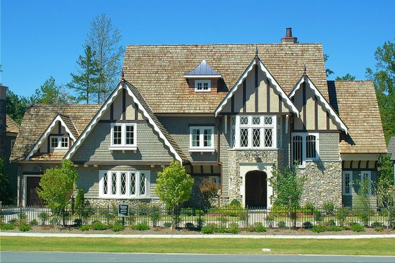 House Plan Design - Tudor Exterior - Front Elevation Plan #413-124