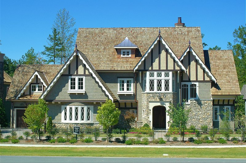 Home Plan - Tudor Exterior - Front Elevation Plan #413-124