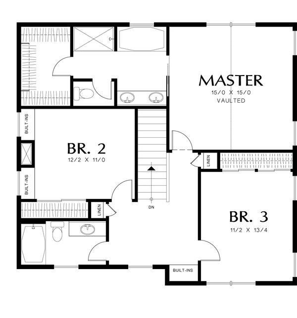 Country Floor Plan - Upper Floor Plan Plan #48-638