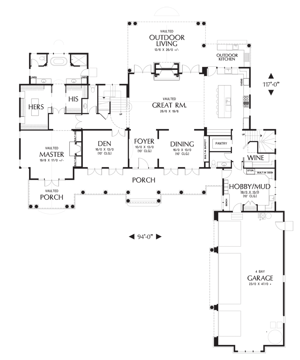 Colonial Style House Plan 4 Beds 5 5 Baths 4903 Sq Ft