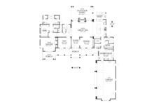 Colonial style house plan, main level floor plan