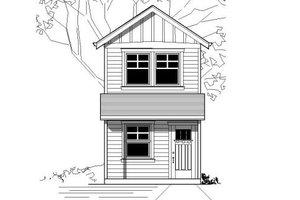 Modern Exterior - Front Elevation Plan #423-21