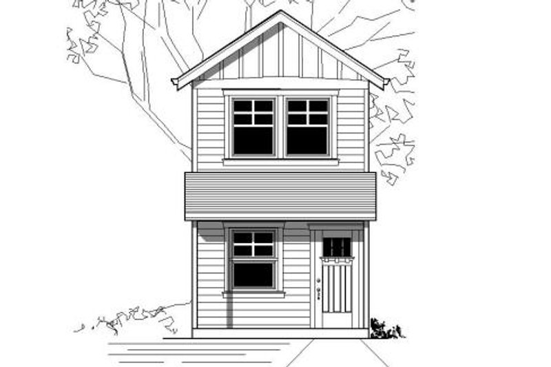 Modern Style House Plan - 1 Beds 1 Baths 576 Sq/Ft Plan #423-21 Exterior - Front Elevation